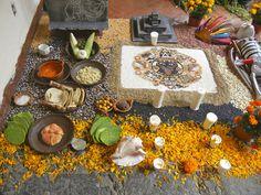 Idea of a Dia de Los Muertos altar, Pre-Columbian style