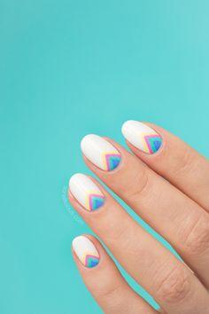 rainbow nails, rainbow nail art