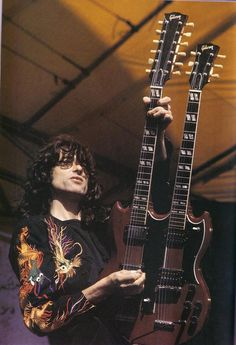 Jimmy Page, and the Gibson SG custom double-neck, designed specifically for Mr Page and specifically for the song Stairway to Heaven...
