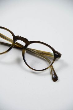 Oliver Peoples | Gregory Peck Optical Frame in Moss Tortoise     www.thebureaubelfast.com   |   thebureaubelfast.tumblr.com