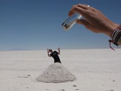 Fun with perspective in the Salar de Uyuni, Bolivia (for your own trip Isabella)! :)