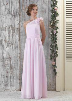 80c49a6a95 Chiffon One Shoulder Flower Full Length Dress