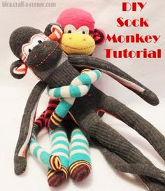 Craft-e-Corner Blog * Celebrate Your Creativity: DIY Sock Monkey Tutorial - Part 1 (Body & Legs)
