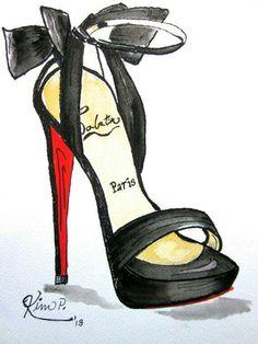 Louboutin- Fashion illustration