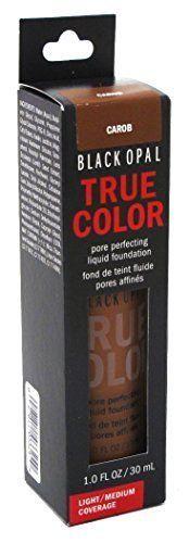Black Opal True Color Liquid Foundation Carob 1oz (3 Pack). Light/Medium Coverage. For All Skin Types. Pore Perfecting. Alcohol-Free. Lightweight.