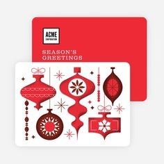 Ornaments Galore Corporate Holiday Cards | Paper Culture