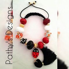 Beaded adjustable woven bracelet. Handmade genuine by PathysDesign