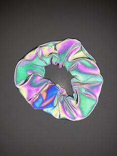 Ropa Color Neon, Diy Hair Scrunchies, Holographic Fashion, Accesorios Casual, Diy Hairstyles, Rainbow Colors, Neon Rainbow, Hair Ties, Colored Pencils