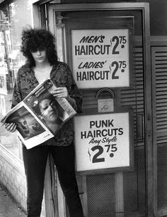 """They call me The Sexual Dinosaur — soundsof71: Joey Ramone, """"Punk Haircuts Any..."""