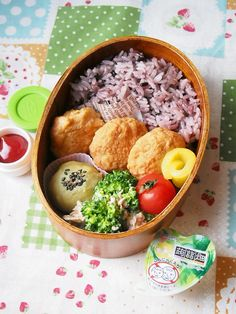 Black Rice, Bento Box Lunch, Chicken Nuggets, Lunch Ideas, Acai Bowl, Yummy Food, Foods, Breakfast, Baby