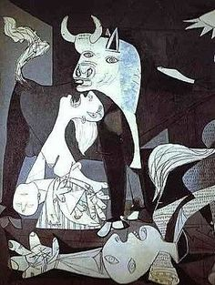 Guernica......masterpiece by Pablo Picasso.....the horrors of war.......