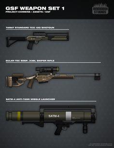 GSF Weapon Set 1 by FutureFavorite.deviantart.com on @DeviantArt