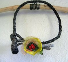 Romina Reserved Wrapped Textile Fiber Necklace by atelierdana