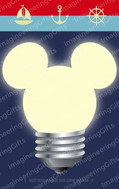 Disney Cruise Magnetic Light Card  Mickey by ImagineeringGifts