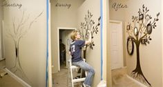 30 ideas to make a magnificent decorative family tree on a wall or in a frame - Creatistic