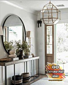 26 Entrance Hall ideas in Small, Large, Modern, Luxurious And Boho Styles If you want to make changes in the entrance hall of your house, you should definitely look at our decor gallery consisting of 26 pictures. New ideas can inspire you. Entrance Hall Decor, House Entrance, Entryway Decor, Entryway Ideas, Entry Hall, Front Entry, Small Entrance Halls, Bedside Table Decor, Entrance Lighting