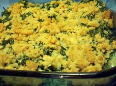 Lady Bird Johnson's Spinach Casserole just had this at a dinner party and it was so good! Spinach Casserole, Casserole Recipes, Cornbread Casserole, Vegetable Sides, Vegetable Recipes, Cooking Bread, Home Recipes, Egg Recipes, Recipes Dinner