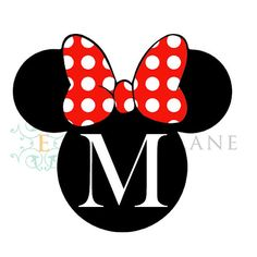 Minnie Mouse Printable Customized  With a by EmoryLaneStudios, $4.25