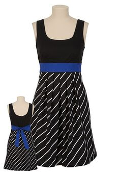 2Fer Striped Skirt Dress; LOVE the colors in this. the blue and the stripes is what caught my eye