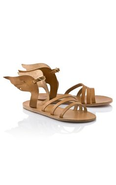 I've been coveting the Adidas Wing hi-tops, but they're a bit more street than my personal style. So, I was delighted to come across this more feminine play on the same idea. Ancient Greek Sandals