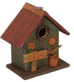 Birdhouses  Garden Decoration HT10151G Birdhouse, 8.5-Inch, Green Spring makeover -- This is an Amazon Associate's Pin. Item can be found on the website by clicking the VISIT button.