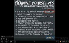 What Messiah Yeshua never did...