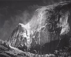 ANSEL ADAMS  1902 - 1984 Half Dome, Blowing Snow, Yosemite National Park, California Date:ca. 1955
