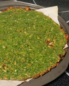 Jo and Sue: Spinach Crust Pizza