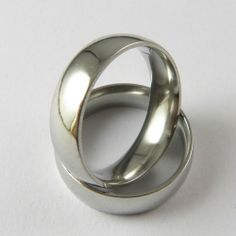 6mm High Polish Comfort Fit Stainless Steel WEDDING BAND Ring – FREE Gift Pouch #Band