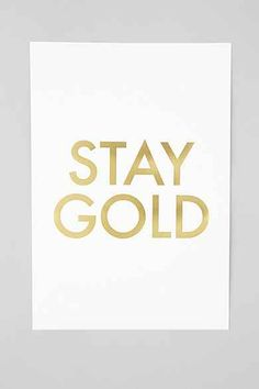 Jennifer Vallez Stay Gold Art Print