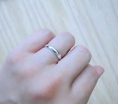 Hey, I found this really awesome Etsy listing at https://www.etsy.com/listing/244795894/simple-silver-wedding-ring-skinny