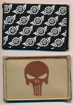 Patch Squad Men's Punisher Flag Tactical Patch