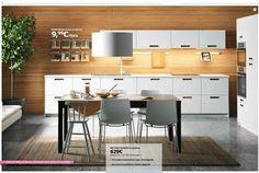 Cuisine Metod Märsta, catalogue Ikea cuisine 2016. Vu page 8.