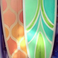 How pretty are these Serena & Lily and Michel Junod surfboards??