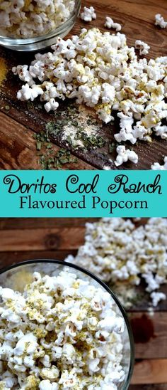 GP snack - Doritos Cool Ranch Flavoured Popcorn - replace popcorn with pretzels or oyster crax Popcorn Snacks, Gourmet Popcorn, Popcorn Toppings, Sweet Popcorn, Pop Popcorn, Popcorn Flavours, Doritos, Appetizer Recipes, Snack Recipes
