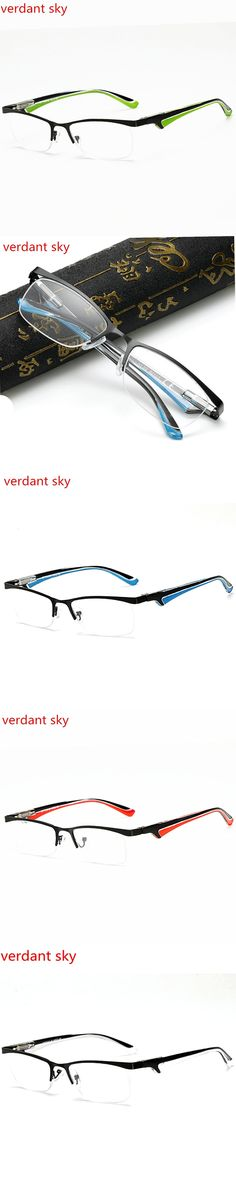 2017 latest Blue ray prevention Metal Half Frame Reading Glasses Presbyopia Spectacles 1.0 to 4.0 PC Temples Fatigue Gafas