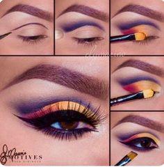 Get the Look with Motives® Sunrise Makeup Tutorial Sunrise Makeup Tutorial with Motives makeup - eye-makeup Makeup Goals, Makeup Inspo, Makeup Art, Makeup Tips, Hair Makeup, Makeup Ideas, Makeup Tutorials, Tiger Makeup, Beauty Makeup