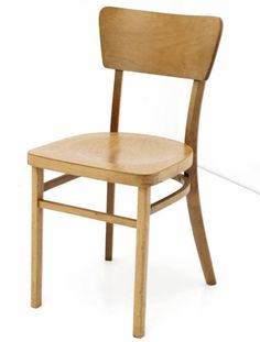 simple wooden chair. Well-made Simple Wooden Chairs. Curved Backrest In Plywood. Lacquered Solid Beech Wood Chair E