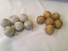 Vintage beaded drops buttons Czech glass by FrenchSteelCutBeads