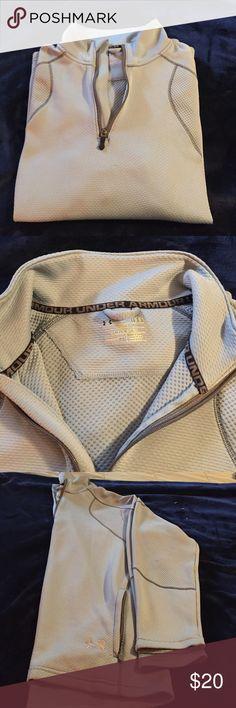 Under Armour long sleeve Blue long sleeve shirt. Quarter zip size L 2 pockets Under Armour Shirts Sweatshirts & Hoodies