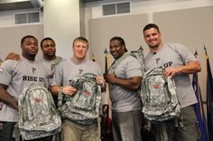 The Georgia National Guard presented these guys with backpacks #Riseup
