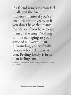 feeling lonely is better than feeling small