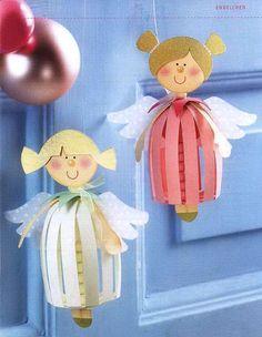 АНГЕЛ Девочка - Игрушка на елку своими руками, Поделки, Подарки к Рождеству, Новому году в технике бумажных шаров
