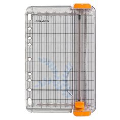 This compact, portable paper trimmer is specifically designed for card-making enthusiasts. The wire cut-line indicates exactly where the blade will cut your card-making materials, and the patented Tri