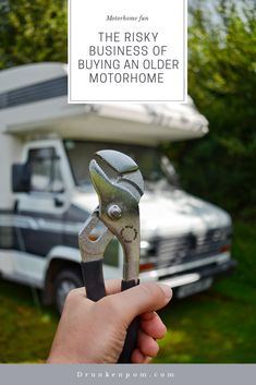 Buying any used motohome can be an absolute minefield but buying an older motorhome is even trickier. Having tools and basic handyman skills are essential. Best Motorhomes, Motorhome Fun, Risky Business, Campervan, Tools, Stuff To Buy, Instruments, Appliance, Vehicles
