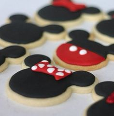 Minnie and Mickey cookies