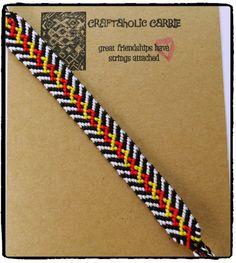 Zebra Inspired Woven Friendship Bracelet by CraftaholicCarrie