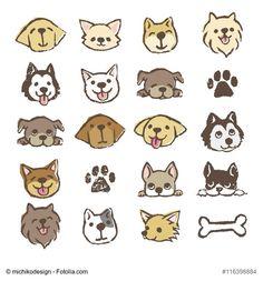 강아지 일러스트 | 사랑스러운 동물 일러스트 갤러리 : 네이버 블로그 Hard Drawings, Cat Drawing, Cute Dog Drawing, Cartoon Dog Drawing, Doodle Dog, Dog Icon, Different Types Of Dogs, Dog Illustration, Cartoon Images