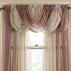 Online Shop beautiful sheer curtain valance waterfall swag valance window valance Window Treatment W Home Curtains, Cheap Curtains, Valance Curtains, Drapery, Rideaux Design, Valance Window Treatments, Beautiful Curtains, Colorful Curtains, Curtain Designs