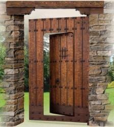 Porton clasico puertas rusticas puertas de madera for Como hacer herrajes rusticos